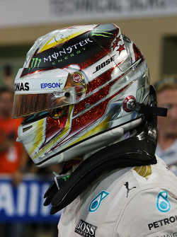 Second place Lewis Hamilton, Mercedes AMG F1 W06 in parc ferme