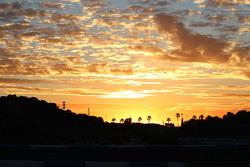 The sun rises over Jerez