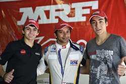 Pietro Fittipaldi, Narain Karthikeyan and Giuliano Alesi