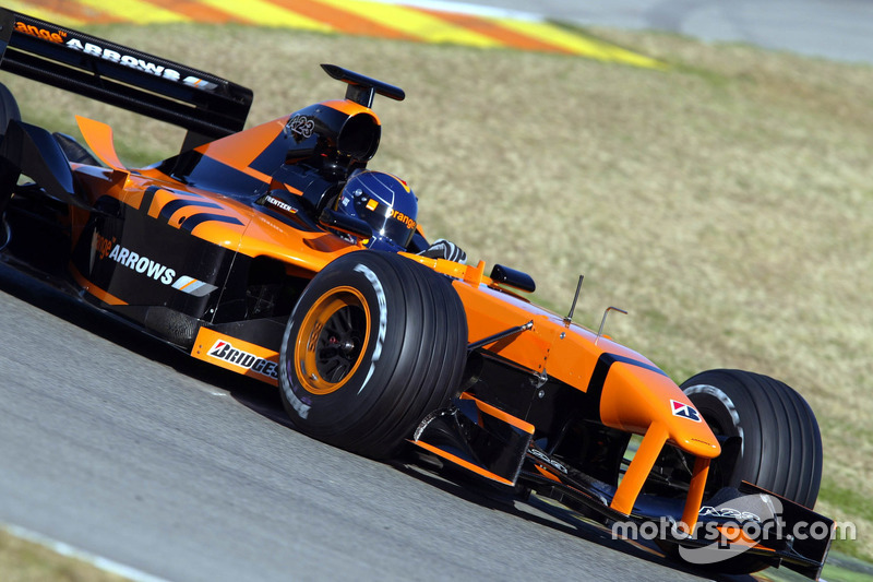 heinz harald frentzen arrows at valencia test february 2002. Black Bedroom Furniture Sets. Home Design Ideas