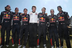 Peugeot Sport drivers with Bruno Famin