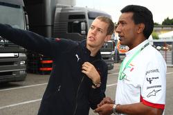 Sebastian Vettel, Scuderia Toro Rosso and Balbir Singh, Force India F1 Team