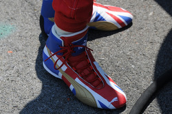 Dan Wheldon's shoes