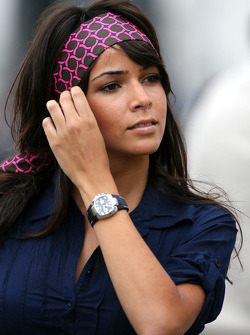 Raquel  Rosario Alonso, Fernando Alonso, Renault F1 Team girlfriend- Formula 1 World Championship, Rd 10, German Grand Prix, Saturday