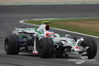 Rubens Barrichello, Honda Racing F1 Team, RA108 with a damaged front wing