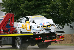John Cleland's car is recovered after getting it wrong at Molecomb