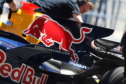 David Coulthard, Red Bull Racing with the shark fin engine cover