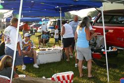 NASCAR fans cookout
