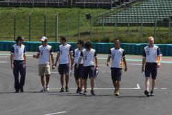 Nelson A. Piquet, Renault F1 Team, trackwalk