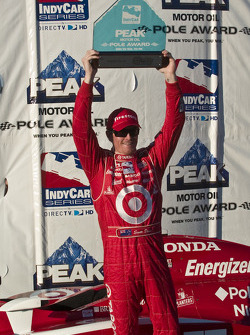 Pole winner Scott Dixon celebrates