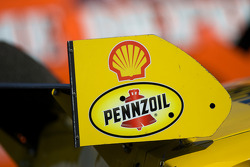 Rear wing detail of the Shell Pennzoil Chevy