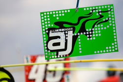 Pit sign of A.J. Allmendinger