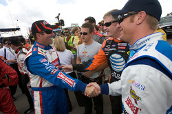 Marcos Ambrose, A.J. Allmendinger, Jeff Burton and Clint Bowyer