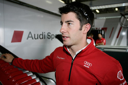 Mike Rockenfeller at the Audi Sport hospitality
