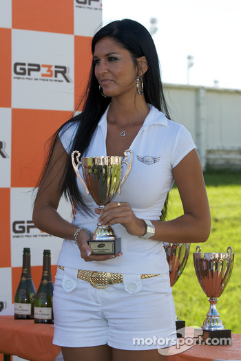 Podium: the lovely trophy presenter