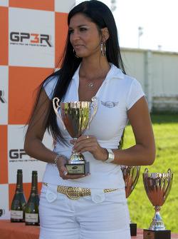 Podium: the lovely trophy presenter