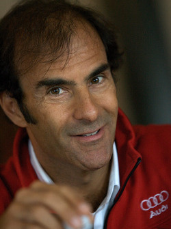 Detroit Grand Prix media lunch at the Detroit Yacht Club: Emanuele Pirro