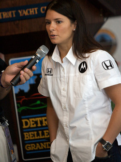 Detroit Grand Prix media lunch at the Detroit Yacht Club: Danica Patrick