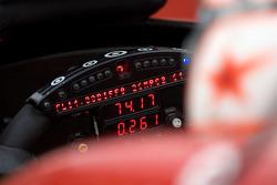 Steering wheel and instrument panel of Scott Dixon