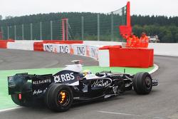 Nico Rosberg, WilliamsF1 Team, FW30, brakes on fire