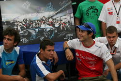 F1 and GP2 Drivers give support to the Gonzalo Rodriguez Memorial Foundation at the GP2 Hospitality
