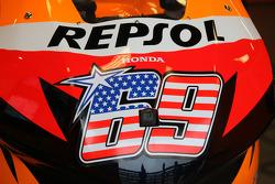 Detail of Nicky Hayden's Honda
