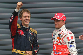 Pole winner Sebastian Vettel, second place Heikki Kovalainen