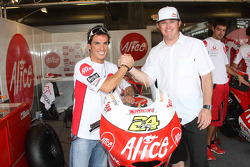 Toni Elias and IndyCar Series driver Buddy Rice