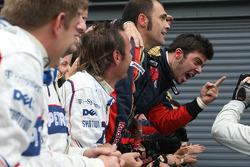 Scuderia Toro Rosso celebrates Sebastian Vettel's win