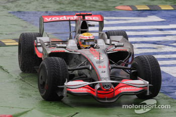 Lewis Hamilton, McLaren Mercedes, MP4-23 cuts the chicane