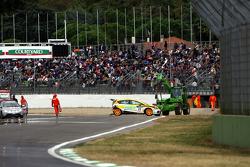 Start crash, Gabriele Tarquini, SEAT Sport, SEAT Leon TDI
