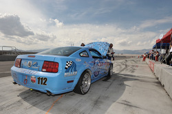 Mechanical problem for #112 Larry Miller Racing Ford Mustang GT: James Burke, Dan McKeever