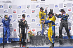 GS podium celebration