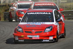 Matt Neal leads Fabrizio Giovanardi and Tom Onslow-Cole