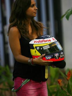 Pedro de la Rosa, Test Driver, McLaren Mercedes, helmet
