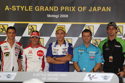 Press conference: Randy De Puniet, Toni Elias, Valentino Rossi, Loris Capirossi and John Hopkins