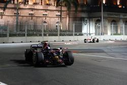 Sebastian Vettel, Scuderia Toro Rosso, STR03 leads Timo Glock, Toyota F1 Team, TF108