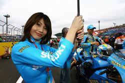 A charming Rizla+ Suzuki girl
