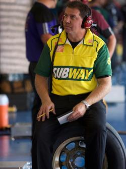 Subway Toyota crew member watches practice