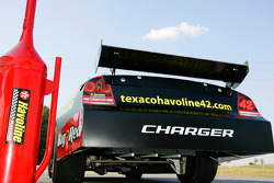The Havoline Dodge sits outside a Texaco in Talladega