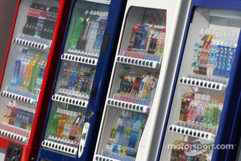 Vending drink machines in the paddock