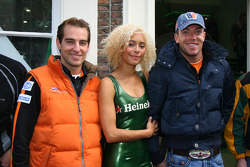 Jeroen Bleekemolen, driver of A1 Team Netherlands and Robert Doornbos, driver of A1 Team Netherlands