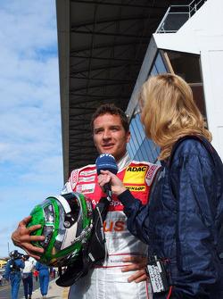 Timo Scheider, Audi Sport Team Abt, interviewed by Verena Wriedt