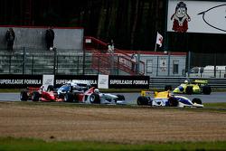 1st lap; #3 Peter Milavec, Lola T92/50, #2 Pierre Schroder, Benetton B197, #25 Karl-Heinz Becker, WS Dallara Nissan