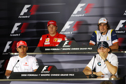 FIA Thursday press conference: Lewis Hamilton, McLaren Mercedes, Kimi Raikkonen, Scuderia Ferrari, Robert Kubica,  BMW Sauber F1 Team, Fernando Alonso, Renault F1 Team
