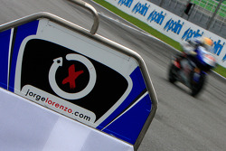 Pit board for Jorge Lorenzo