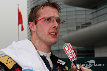 Sébastien Bourdais gives an interview