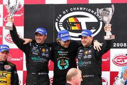 GT1 podium: class and overall winners Andrea Bertolini and Michael Bartels