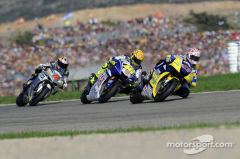 Colin Edwards, Valentino Rossi and Andrea Dovizioso