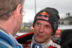 Race winner Mattias Ekström